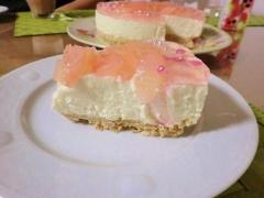 桃のレアチーズケーキ2