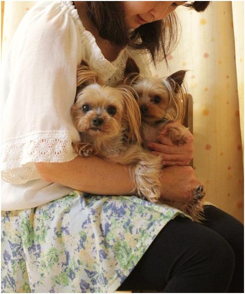 クルココと家族写真