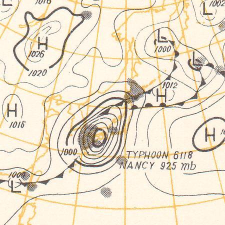 第2室戸台風 天気図 as1961091609