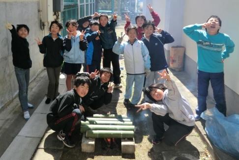⑧竹を活用した炊飯活動 (2)