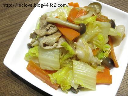 野菜と春雨炒め