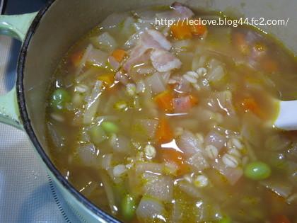 コンソメ生姜スープ~押し麦入り~