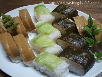 たけのことりゅうきゅうのお寿司