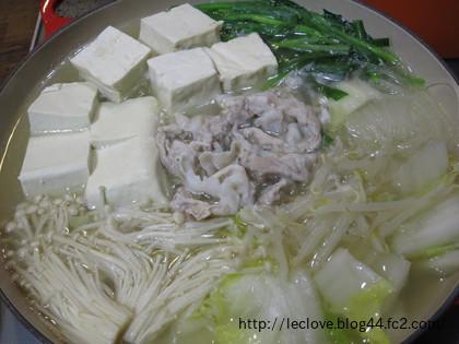 豚バラと白菜のお鍋♪