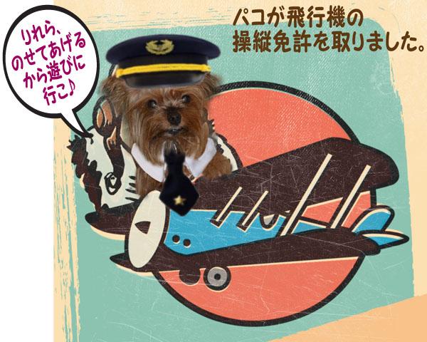 1パコが飛行機の免許を取ったよ