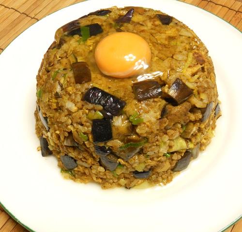 秋茄子のカレー炒めチャーハン14