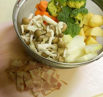 焼き鳥缶とゴボウの炊き込みご飯クリームチーズみそシチュー10
