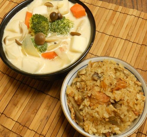 焼き鳥缶とゴボウの炊き込みご飯クリームチーズみそシチュー14