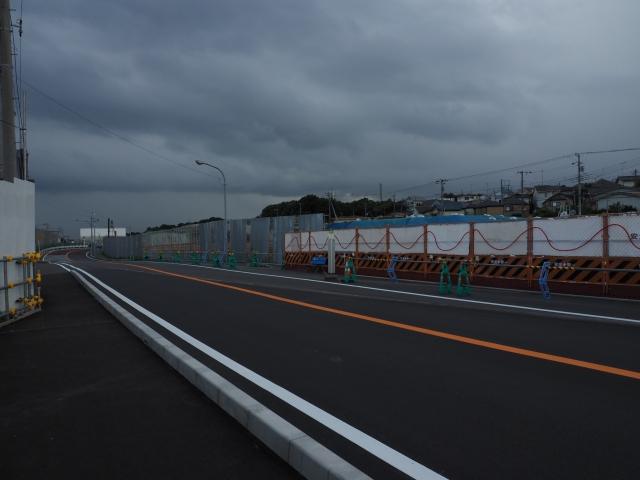 国分操車場付近。雨量レーダーでも雨が近づいている事がわかります。
