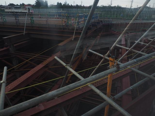 北千葉JCTの湾岸側末端部。準備工事で終わりそう。