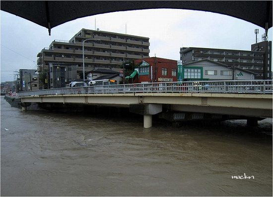 樋井川の増水