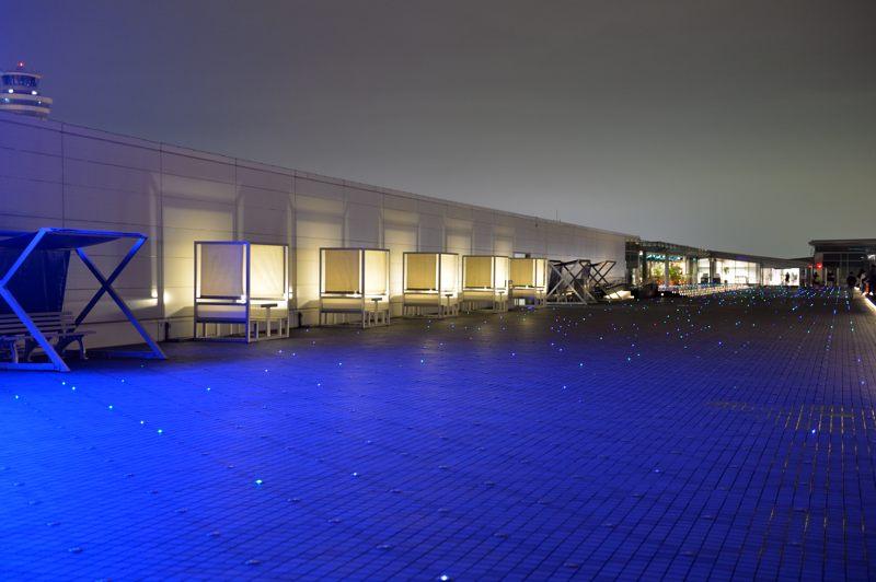 羽田空港 羽田空港第2旅客ターミナル展望デッキ夜の風景
