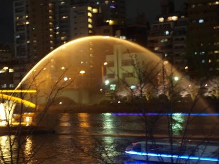 2012.12.20 OSAKA光のルネサンス中之島 剣先噴水