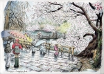 井の頭桜雨2014100