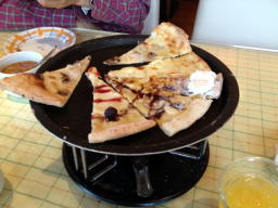 デザートピザはイマイチだな