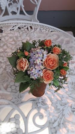 クレイの花、薔薇と紫陽花2013.3.13