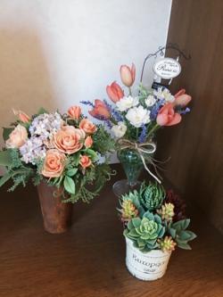 粘土のお花①2014.8.27