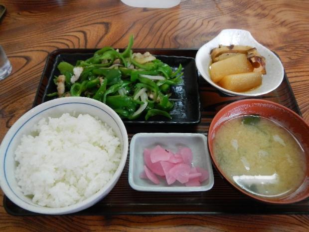 ピーマン炒め定食@赤城屋 (1)