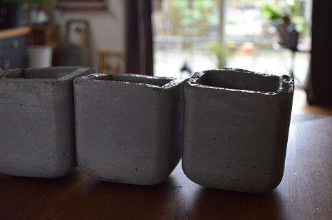 コンクリート鉢DIY