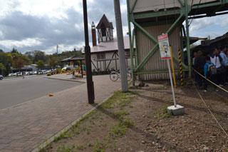 駅舎と駅の境目