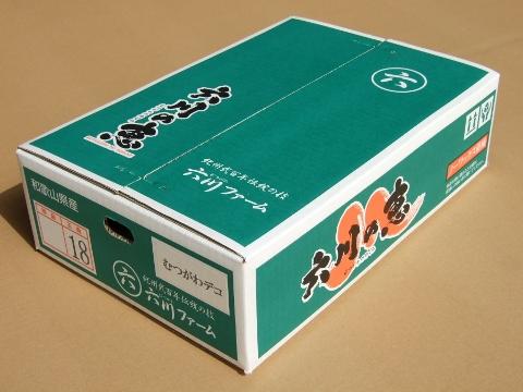 【むつがわデコ】の箱(写真は18玉入り)