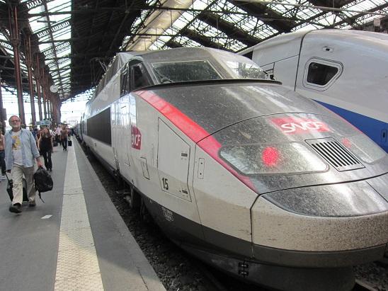 リヨン駅に着いたSNCF