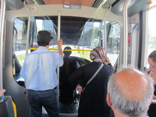 トラム運転席
