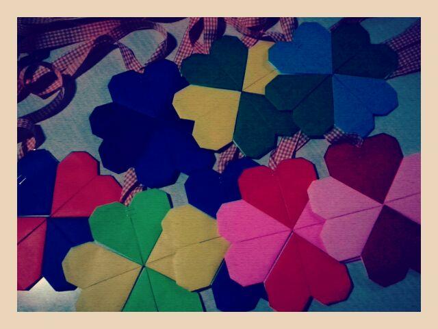 ハート 折り紙:折り紙でメダル-mikika.blog33.fc2.com