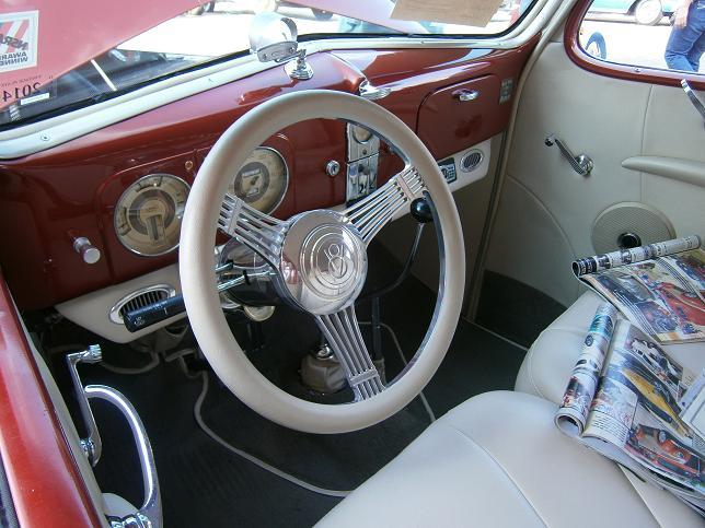 1937 Ford Sedan inside