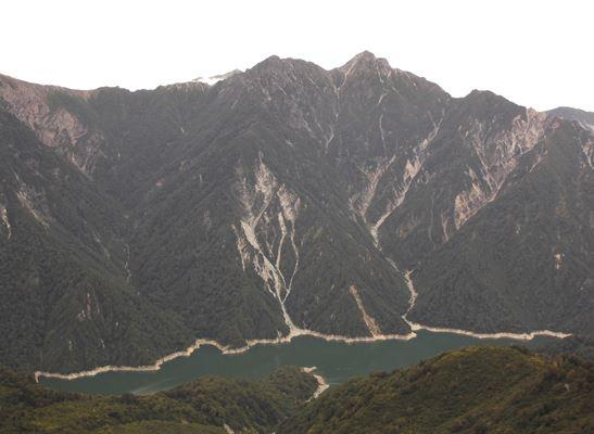 大観峰展望台からのスバリ岳と針ノ木岳