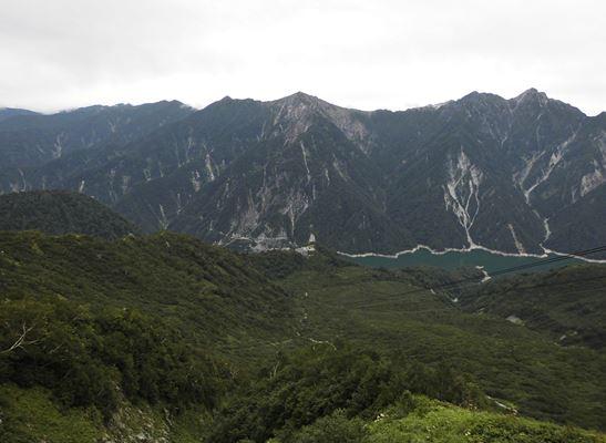 大観峰展望台からの黒部湖
