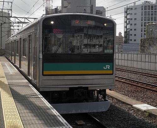 横ナハ205系1000番代「ワ4」編成(2014年9月3日・八丁畷駅)