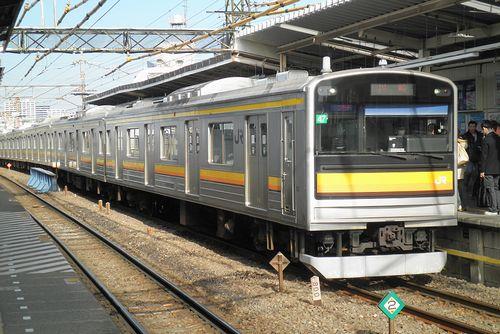 横ナハ205系1200番代「47」編成(尻手駅・2010年12月19日)