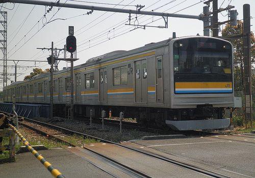 横ナハ205系1100番代「T11」編成(鶴見線浅野駅・2014年4月10日)