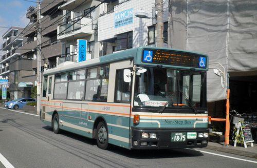 西武バス「練48」系統(2014年9月9日・東京都練馬区三原台1丁目「稲荷前」停留所付近)