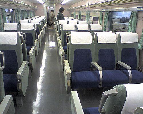 0系新幹線車内(2009年11月5日・鉄道博物館)
