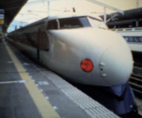 0系新幹線(小郡駅・2001年7月)