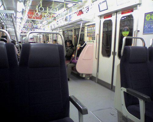 京急電鉄600系「605」編成車内(2009年12月17日)
