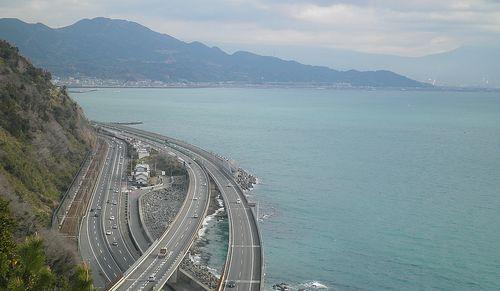 薩埵峠から見た展望(静岡市清水区由比西倉沢)(2014年3月9日)1