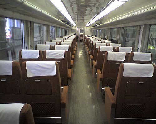 東武鉄道350系車内(2009年12月27日)