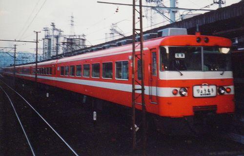 東武鉄道1800系急行「りょうもう」(1988年9月23日・赤城駅)2