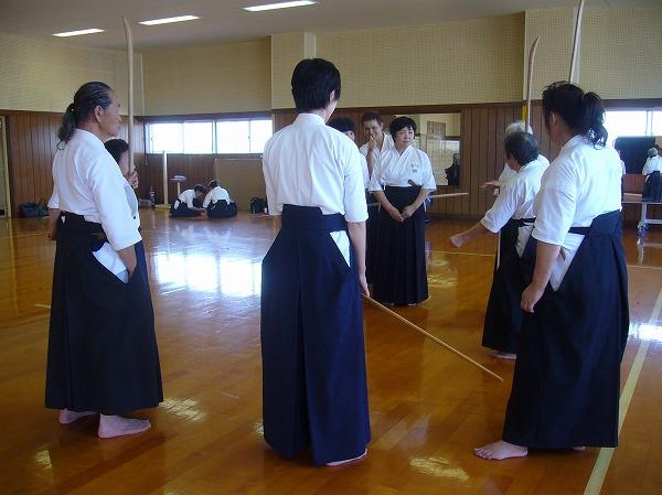 会長指導、薙刀お稽古 26.9.28