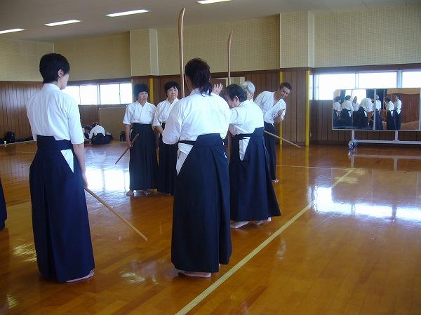 薙刀お稽古 指導者会長 26.9.28
