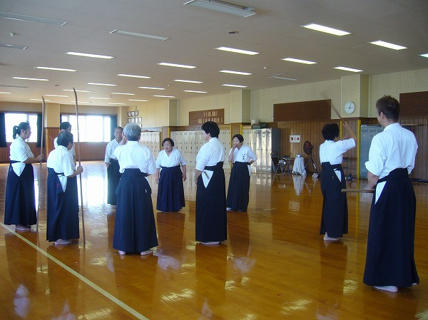 薙刀お稽古 会長先生指導 26.9.28