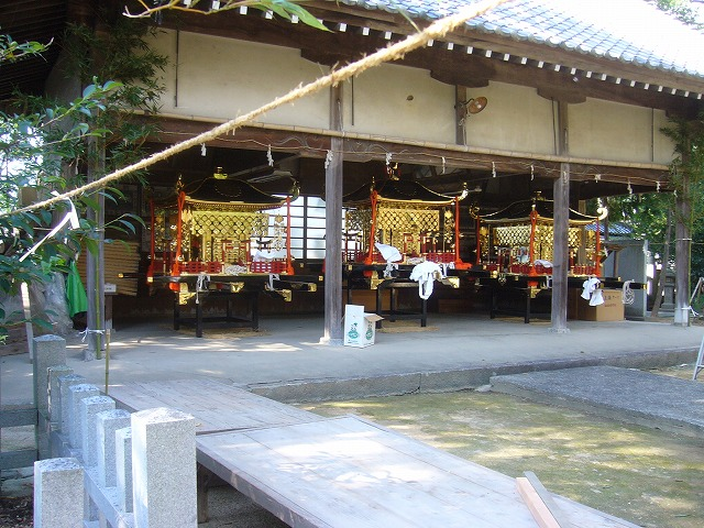 大野原八幡神社神輿準備 26.10.15