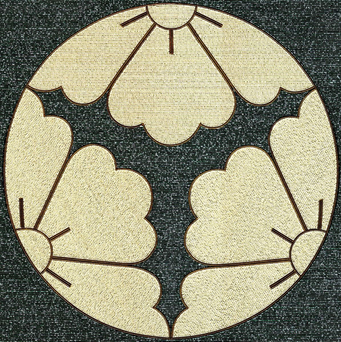 三つ割花菱紋