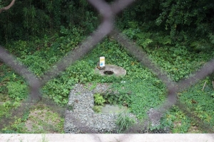 上流井戸と雨水桝