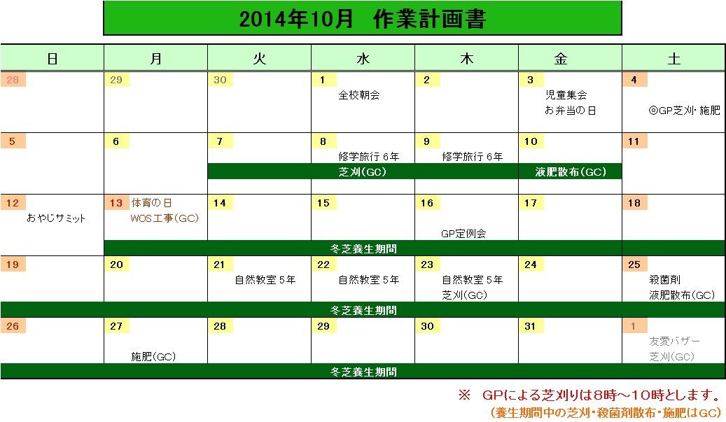 201410作業計画
