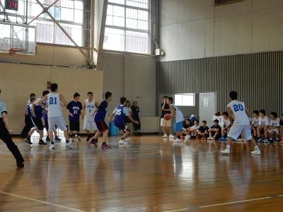 高校バスケ練習試合 014