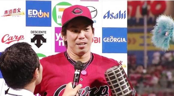 前田健太ヒーローインタビュー